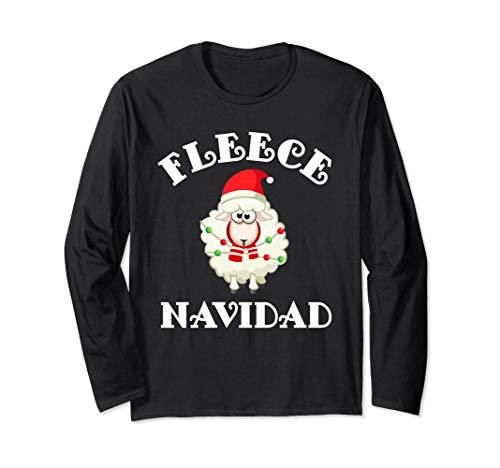 Christmas Fleece Navidad Sheep Wool Lamb Long Sleeve Shirt ()