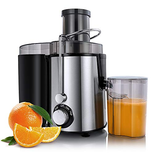 Sagnart Centrifugal Juicer Machines, Juice Extractor for Whole Fruit and Vegetables, BPA-Free, 2 Speed and Overheat overload protection, Anti-drip and Detachable Citrus Juicer, Included Brush