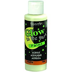 DecoArt DS50-10 Glow-in-the-Dark Paint, 4-Ounce