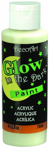 DecoArt DS50-10 Glow-in-The-Dark Paint, 4-Ounce for $<!--$5.04-->