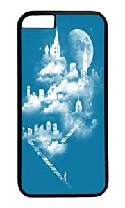 Apple Iphone 6 Case,WENJORS Awesome STAIRWAY TO HEAVEN Hard Case Protective Shell Cell Phone Cover For Apple Iphone 6 (4.7 Inch) - PC Black