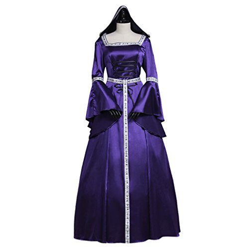 CosplayDiy Women's Medieval Victorian Dress Vampire Witch Dress Costume XXXL (Plus Size Victorian Costumes)