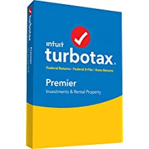 TurboTax Premier + State 2018 PC/Mac Disc [Amazon Exclusive]