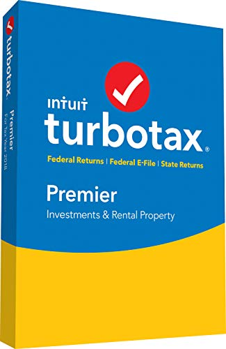 Software : TurboTax Premier + State 2018 Tax Software [PC/Mac Disc] [Amazon Exclusive]