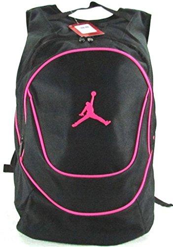 Jordan Nike Air Jumpman Sports Bag Backpack-Schwarz/Rosa
