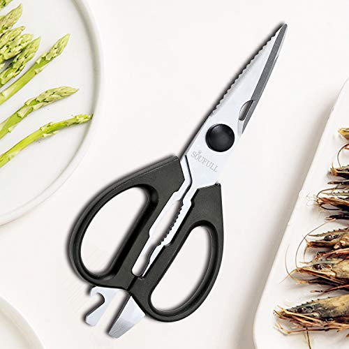 Soufull Heavy Duty Multi Purpose Kitchen Scissors for Chicken,Poultry,Meat-Come-Apart Sharp Shears by Soufull (Image #6)