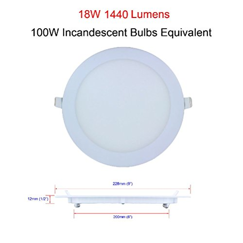 6W 9W 12W 15W 18W 21W 24W Dimmable LED Recessed Ceiling Panel Down Light Bulbs by unbrand