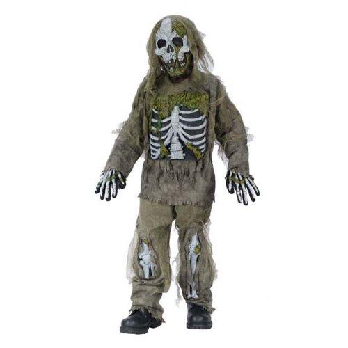 Skeleton Zombie Costume (Boy - Child Small 6 - (Child Gizmo Costume)