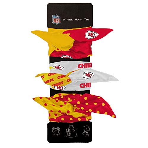 Littlearth NFL Kansas City Chiefs Wired Hair - City Tie