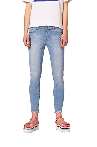Jean Esprit Light Skinny Blue edc by Wash 903 Femme Bleu 5Ewqxw4K0F