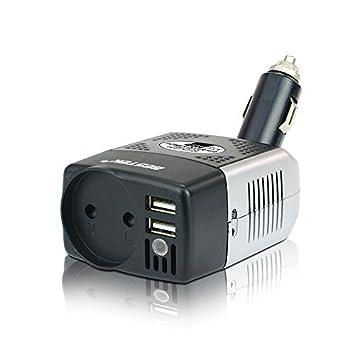 BESTEK Convertisseur Chargeur Allume Cigare Onduleur Transformateur avec 2  Ports USB, 150W 12V 220V - a35feacb199c