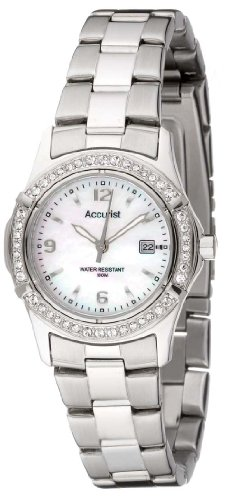 Accurist LB1540P Ladies Stones Silver Sports Watch (Ladies Accurist Watch)