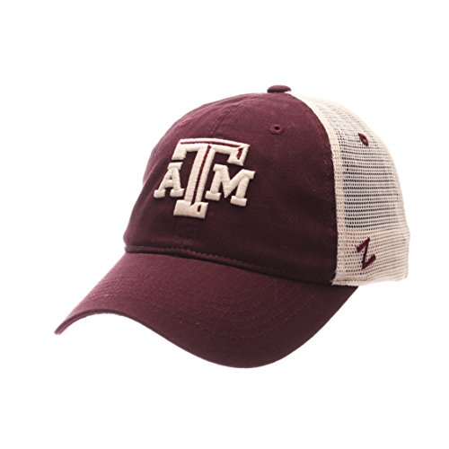 NCAA Texas A&M Aggies Adult Men University Relaxed Cap, Adjustable, Team Color/Stone