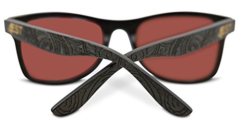 4893184757 Bamboo Wood Sunglasses - Polarized handmade wooden shades in a wayfarer  that Floats! 3 FREE