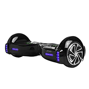 Jetson Black V5 Hoverboard Smart 2-Wheel Electric Self Balancing Scooter - Kids 13+ yrs, Adults - Bluetooth Speaker, LED Lights, App Included - UL 2272 Certified 23 Inch Board