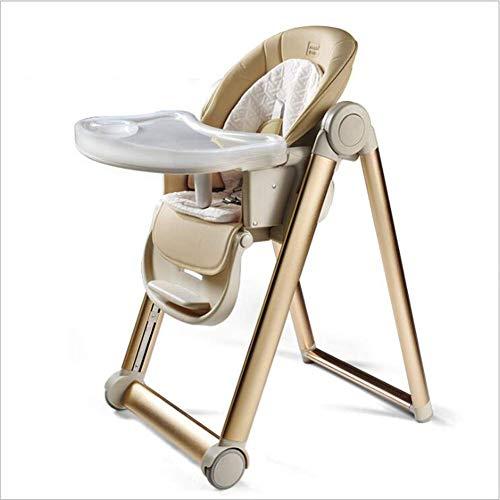 YAOHM Baby Trona - Silla Alta de bebé, Asiento reclinable, cojin Acolchado, cinturón, Mesa con Bandeja extraíble - Altura...