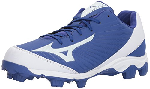 - Mizuno  Men's 9-Spike Advanced Franchise 9 Molded Baseball Cleat-Low Shoe, Royal/White, 12 D US