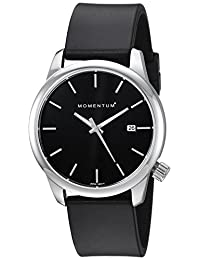 Momentum Women's 'Logic 36' Quartz Stainless Steel and Rubber Casual Watch, Color Black (Model: 1M-SN11B1B)