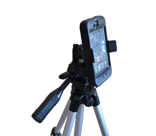 Tripod or Monopod Mount for Smartphones, Apple iPhone 3G 3GS 4 4s 5 5s 5c 6 iPod Touch Samsung Galaxy S S1 S2 S3 S4 (Tripod is not included with purchase)