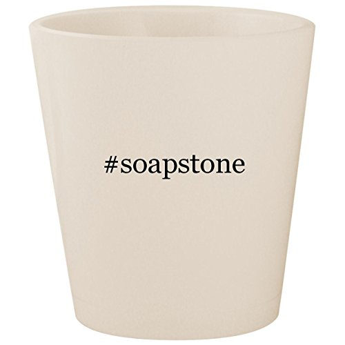 #soapstone - White Hashtag Ceramic 1.5oz Shot Glass