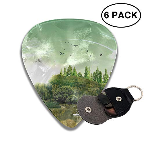 Colby Keats Guitar Picks Plectrums Modern Art Classic Electric Celluloid Acoustic for Bass Mandolin Ukulele 6 Pack 3 Sizes .96mm -