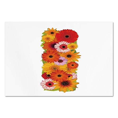Large Wall Mural Sticker [ Letter I,Uppercase I with Floral Effects Vibrant Inspiring Soft Happines Bunch of Florets Decorative,Multicolor ] Self-Adhesive Vinyl Wallpaper/Removable Modern Decorating
