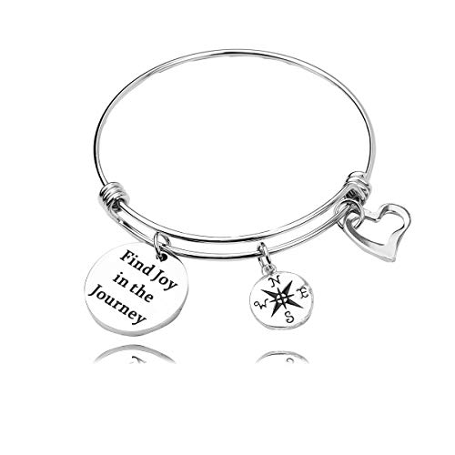 - AZFEIYA Retirement Gift for Woman Time for The Next Adventure Bracelet,Keychain Graduation Gift for Her,Coworker Leaving Gift,Off to College Gift (Find Joy in The Journey-Bracelet)