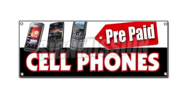 Amazon com : PREPAID CELL PHONES BANNER SIGN calling cards