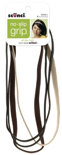 Scunci No-slip Grip Flat No-slip Neutral Headwraps, used for sale  Delivered anywhere in USA