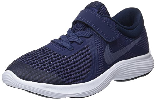 Nike Boys' Revolution 4 (PSV) Running Shoe, Neutral Indigo/Light Carbon-Obsidian, 3Y Regular US Little Kid