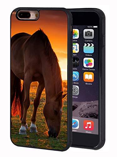 iPhone 7 Plus Case,iPhone 8 Plus Case,BWOOLL Horse Theme Design Slim Anti-Scratch Rubber Protective Cover for Apple iPhone 7 Plus/iPhone 8 Plus 5.5 inch ()