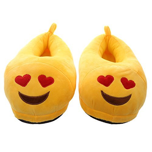 Pantuflas faccine Emoticon Invierno Ojos a corazón Cod. 5521