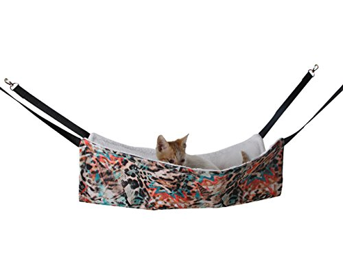 IFOYO Cat Hammock, Cat Hammock Bed for Cage Chair Hanging Pet Hammock for Cats Small Dogs Rabbits and Other Animals Up to 30Lbs For Sale