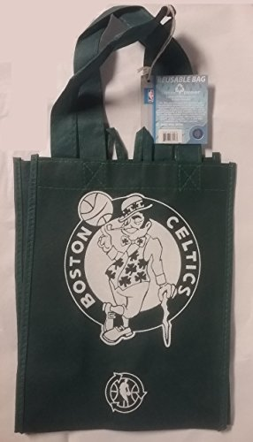 FOCO NBA Boston Celtics Printed Non-Woven Polypropylene Reusable Grocery Tote Bag, Small, Green by FOCO
