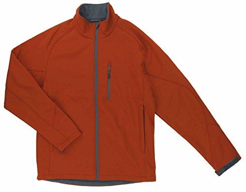 Kirkland Signature Mens Water Resistant 4-Way Stretch Softshell Jacket(X-Large, Orange) (Shell Soft Stretch Jacket)