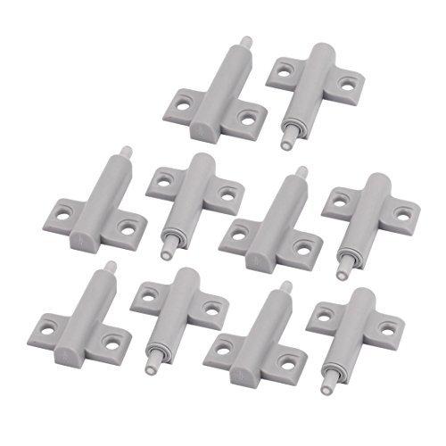 DealMux Cupboard Cabinet Drawer Hole Mounting Damper Bumper Closer Buffer Gray 10pcs -