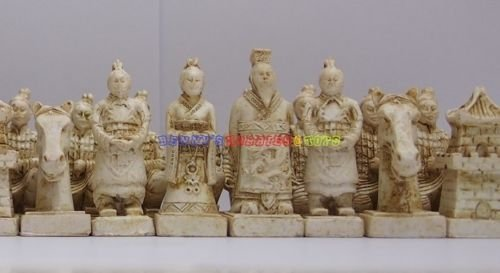 Zurich Set Table (New Chinese Chess Set (Terracotta Warriors) 32 Pieces - Medium Size (Chess Only))