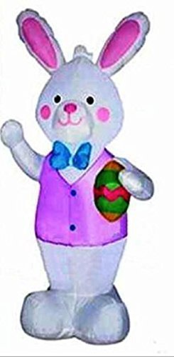 Airblown JUMBO SIZED AIRBLOWN EASTER BUNNY WITH GIANT EASTER EGG 08678