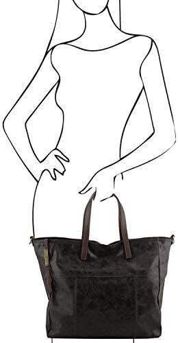 TUSCANY LEATHER - Annie - Sac hobo TL SMART en cuir effet vieilli - Noir (TL141552)