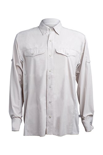 Price comparison product image Mojo Mr. Cool Long Sleeve Men's Performance Fishing Shirt (Medium, Dune)