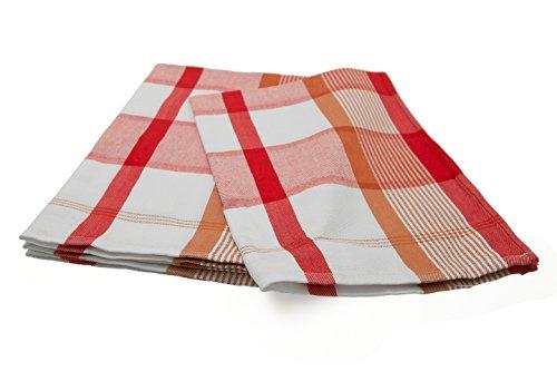 ZOLLNER® 4er-Set Geschirrtücher 50x70 aus 100% Baumwolle cm rot-kariert, in weiteren Farben erhältlich, in Gastronomiequalität, Serie
