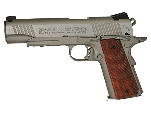 Swiss Arms SA 1911 TRS CO2 BB Pistol, Brown Grips air pistol 1911 Co2 Pistol