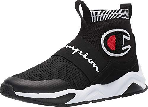 Champion Men's Rally Pro Big C Knit Sock Top Sneaker, Black, 10M ()