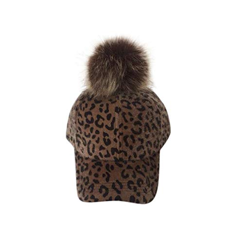 Christmas Stockings,Fashion Autumn and Winter Parent-Child Hat Leopard Velvet Cap,Gift Wrap Bags,Coffee,One Size