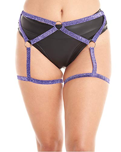 iHeartRaves Purple Adjustable Wrapped in Lust Glitter Leg Body Harness (Large/X-Large) from iHeartRaves