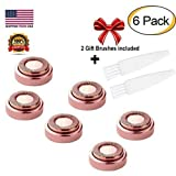 Facial Fillers On Cheeks - STOUCH Facial Hair Removal Replacement Heads for Women's Painless Hair Remover For Good Finishing and Well Touch,Gold Rose, Count 6
