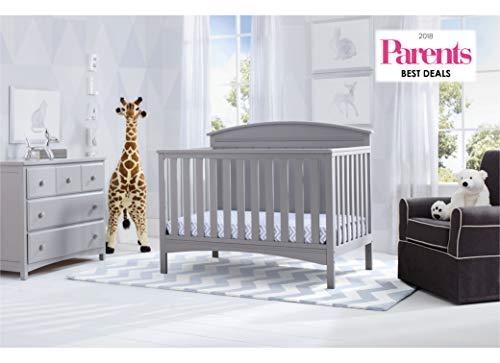 41pZc1seaKL - Delta Children Archer Solid Panel 4-in-1 Convertible Baby Crib, Grey