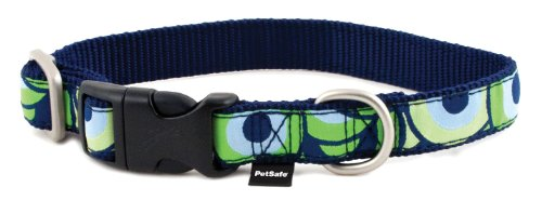 PetSafe Fido Finery Quick Snap Dog Collar, 3/4-Inch, Medium, Stormy Circles