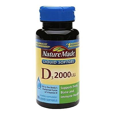 Nature Made Vitamin D 2000 IU Dietary Supplement Liquid Softgels