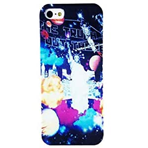 LZX Freedom of Status Pattern Plastic Hard Case for iPhone 4/4S